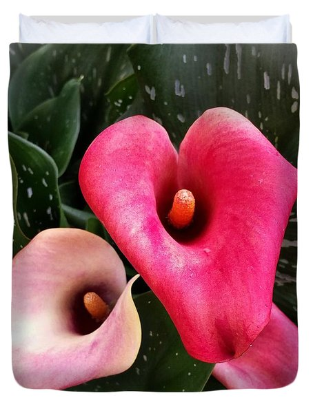 Hot Pink Calla Lily Duvet Cover