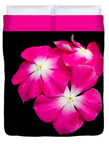 Hot Pink Flora Duvet Cover