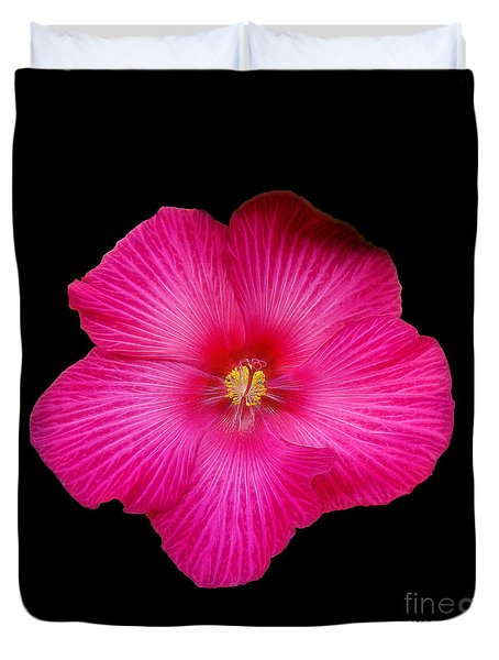 Hot Pink Hibiscus Duvet Cover