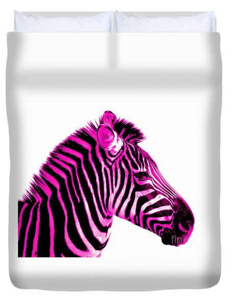 Hot Pink Zebra Duvet Cover