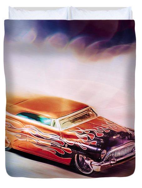 Hot Rod Racer Duvet Cover