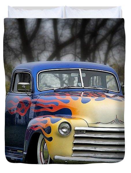 Hot Rod Truck Duvet Cover