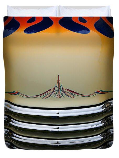 Hot Rod Truck Hood Duvet Cover