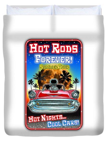 Hot Rods Forever Summer Tour Duvet Cover
