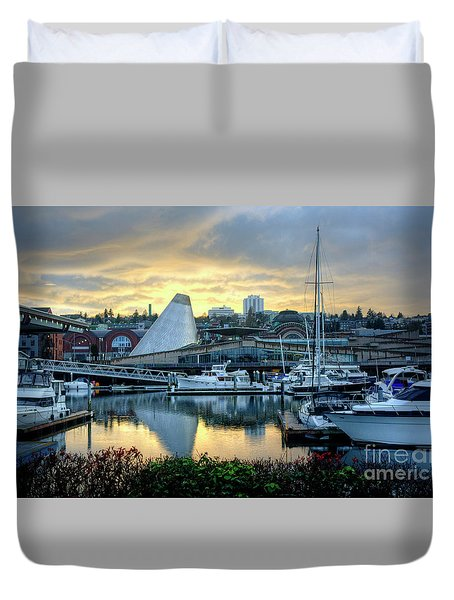 Hot Shop Cone Cloudy Twilight Duvet Cover by Chris Anderson