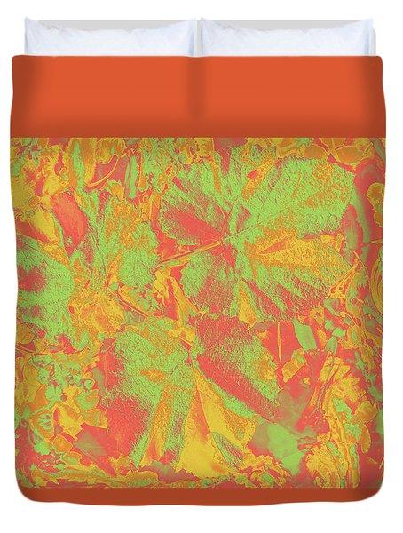 Duvet Cover featuring the photograph Hot Shot Garden by Nareeta Martin