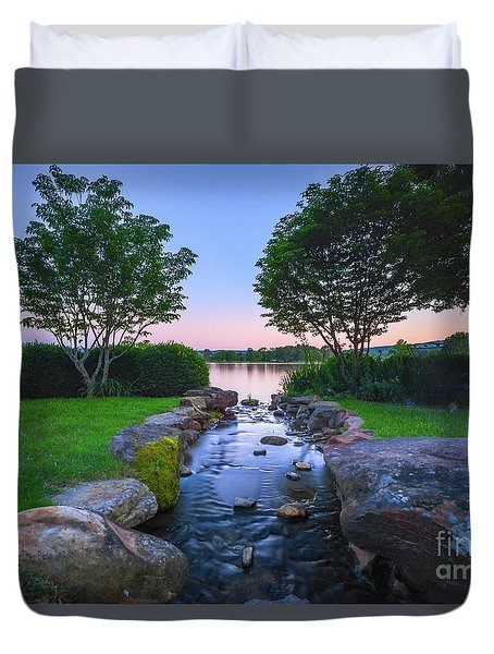 Hot Spring Water Flow Duvet Cover