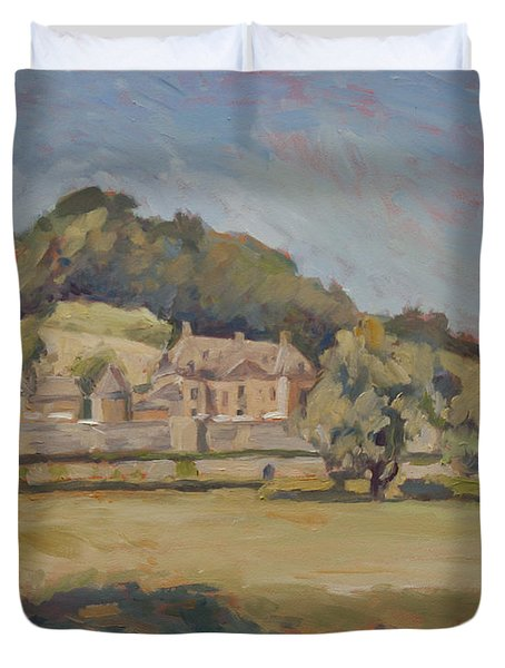 Hot Summer Day At Chateau Neercanne Duvet Cover