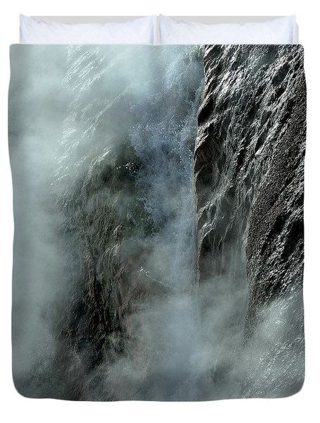 Hot Water Into Cold Makes Steam Duvet Cover