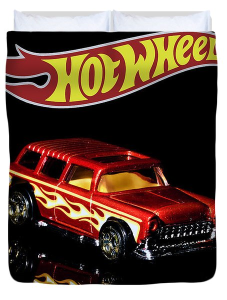 Hot Wheels '55 Chevy Nomad 2 Duvet Cover