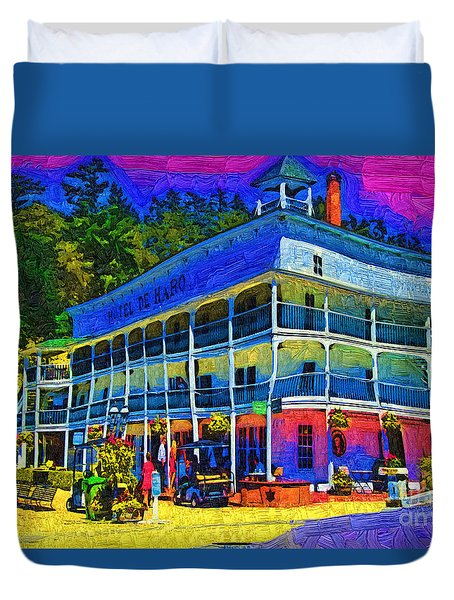 Hotel De Haro Duvet Cover by Kirt Tisdale