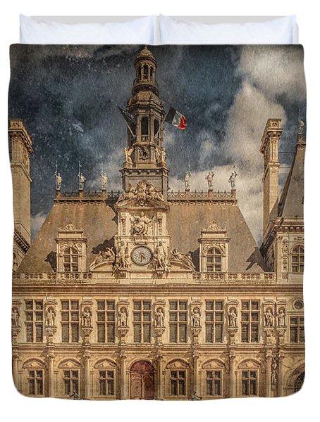 Paris, France - Hotel De Ville Duvet Cover