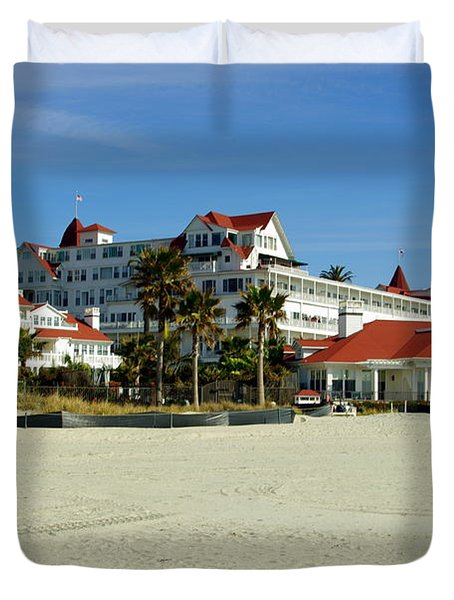 Hotel Del Coronado Beach Duvet Cover