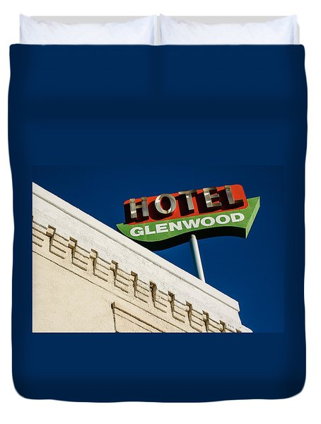 Hotel Glenwood Tucson Arizona By Gene Martin Duvet Cover
