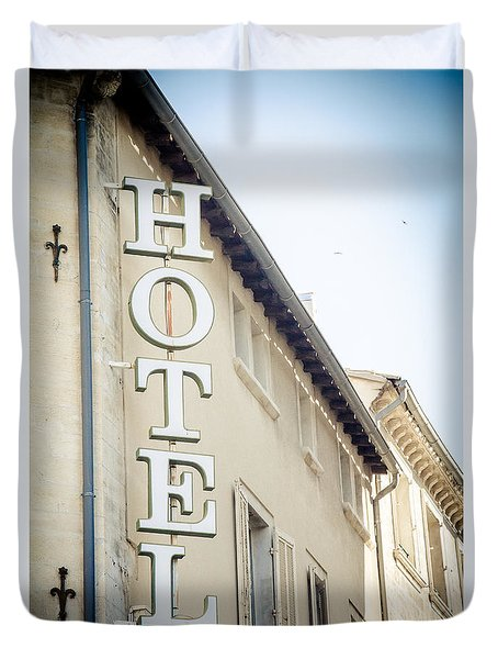 Duvet Cover featuring the photograph Hotel by Jason Smith