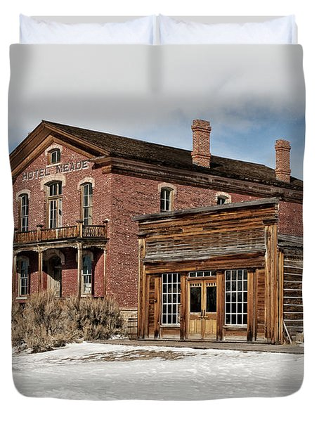 Hotel Meade And Saloon Duvet Cover