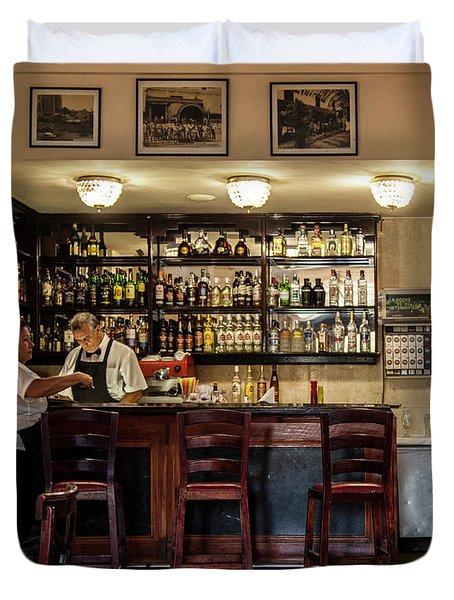 Hotel Presidente Bar Havana Cuba Duvet Cover by Charles Harden