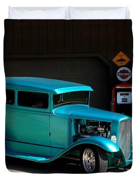 Hotrod Car Duvet Cover