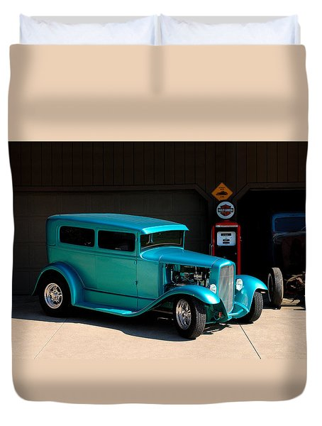 Hotrod Car Duvet Cover