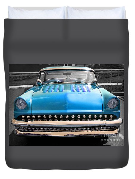 Duvet Cover featuring the photograph Hotrod  by Raymond Earley