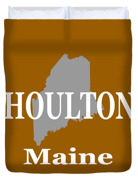 Duvet Cover featuring the photograph Houlton Maine State City And Town Pride  by Keith Webber Jr