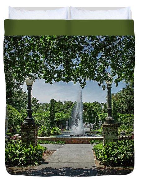 Houmas  House Gardens Duvet Cover