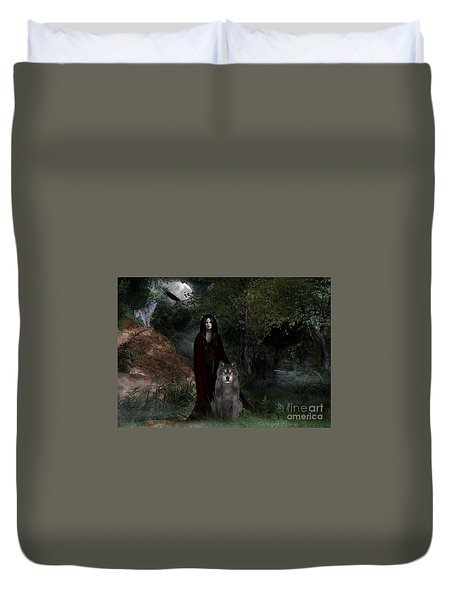 Hour Of The Wolf Duvet Cover