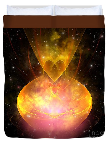 Hourglass Nebula Duvet Cover by Corey Ford
