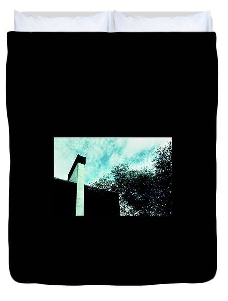 House And Sky Duvet Cover