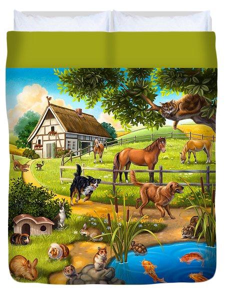 House Animals Duvet Cover