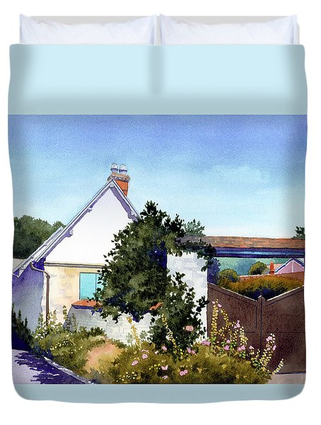 House At Giverny Duvet Cover