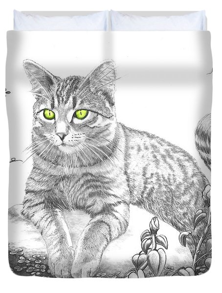House Cat Duvet Cover by Murphy Elliott