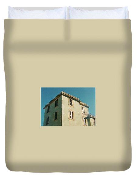 House In Ostia Beach, Rome Duvet Cover