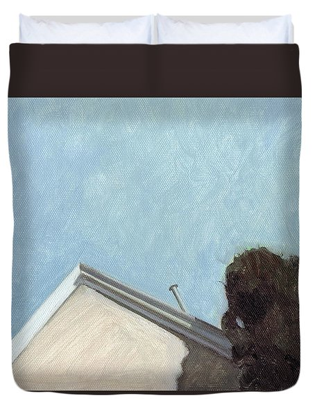 House In Santa Fe Duvet Cover