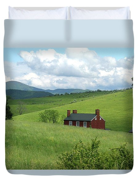 House In The Hills Duvet Cover