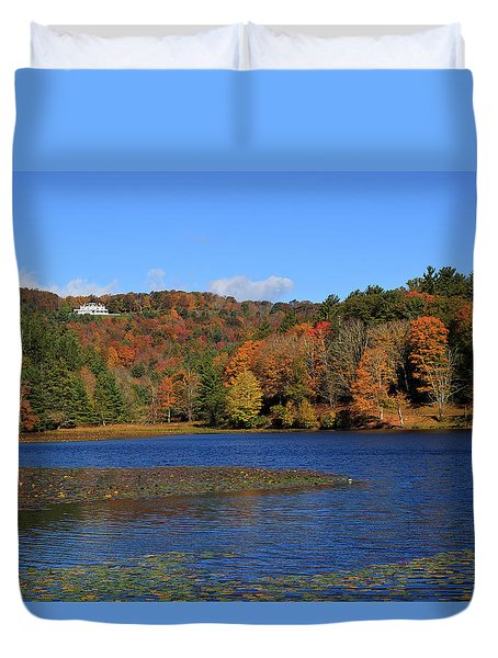 House In The Mountains Duvet Cover