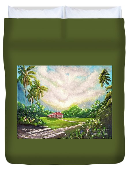 House In The Valley Duvet Cover