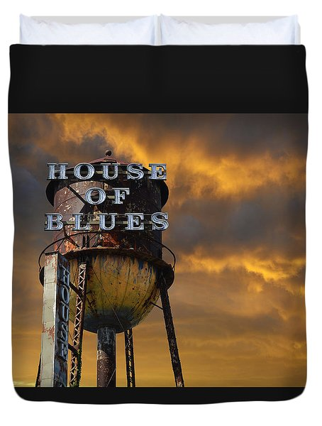 Duvet Cover featuring the photograph House Of Blues  by Laura Fasulo
