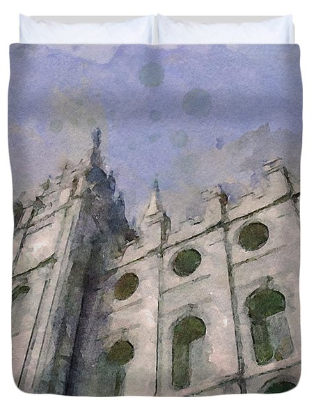 House Of Faith Duvet Cover by Greg Collins