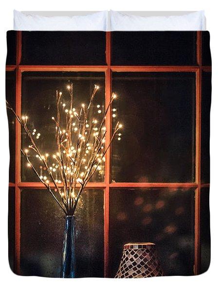 House Of Mystic Lights Duvet Cover