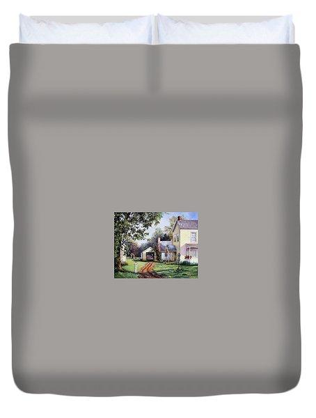 House On Bird Street Duvet Cover