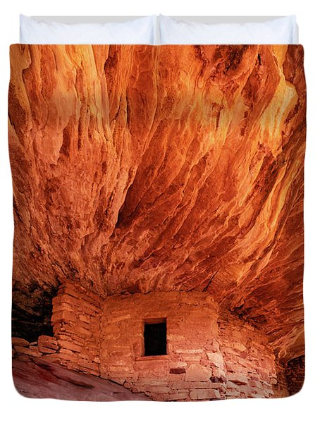 House On Fire Duvet Cover