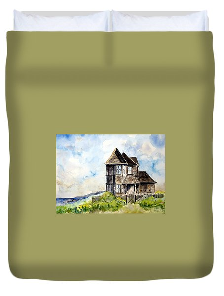 House On Little Lake Street Mendocino Duvet Cover