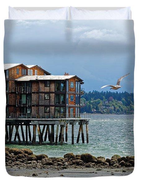 House On Stilts Duvet Cover
