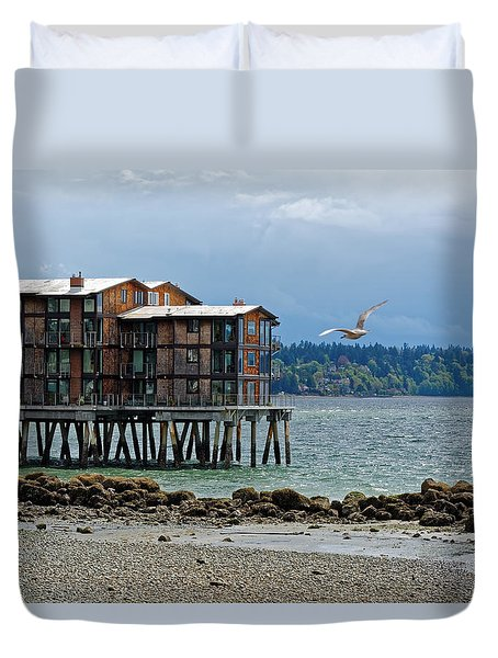 House On Stilts Duvet Cover