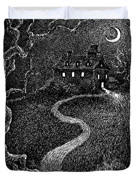 House On The Hill Duvet Cover