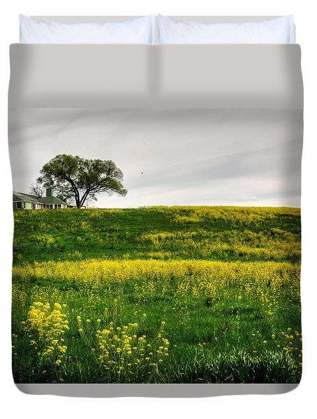 House On The Hill Duvet Cover by Greg Mimbs