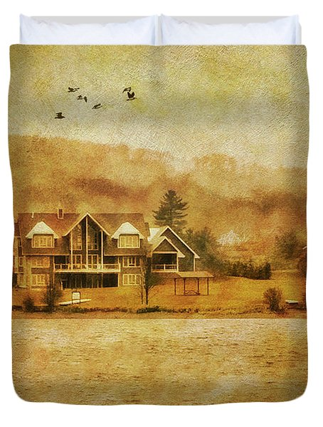 House On The Lake Duvet Cover