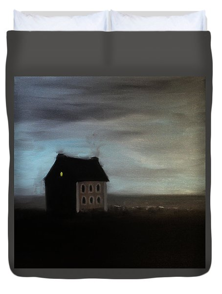 House On The Praerie Duvet Cover by Tone Aanderaa