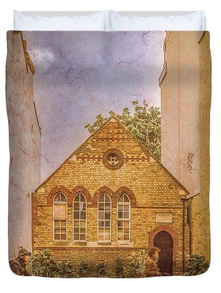 Oxford, England - House On Walton Street Duvet Cover